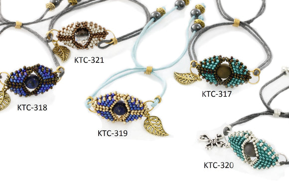 KTC-317 - 321 Beaded Evil Eye Bracelets - Kalitheo Creations