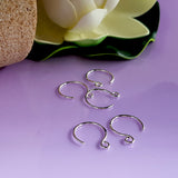 Circle Ear Wires/Hooks (BULK 10 pcs) Silver .999 Handmade | FS-016EH-5 | Jewellery Making Supply - Kalitheo Jewellery