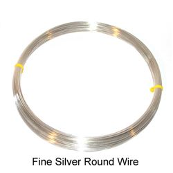 F-FS-004 Fine Silver 999 Round Wire 0.4 mm per Meter - Findings Wire - Kalitheo Jewellery