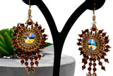 Stunning Quality Handmade Women's Jewellery - Beaded Bridal/Formal Statement Earrings - KTC-361 - Kalitheo Jewellery