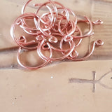 Copper Circle Handmade Earring Wires/Hooks | C-007EH | Jewellery Supply - Kalitheo Jewellery
