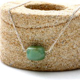 Jade Nugget & Sterling Silver 925 Necklace | KJ-021N | Artisan Necklace - Kalitheo Jewellery