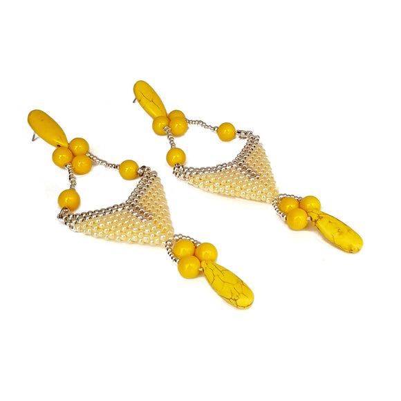 Spring Kalitheo Statement Earrings | KJ-415E | Artisan Earrings - Kalitheo Jewellery
