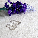 Super Cute Silver 925 Safety Pin Artisan Earrings | Kalitheo
