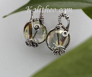 KTC-111 Gorgeous Oxidised Sterling Silver Drop Earrings - Kalitheo Jewellery