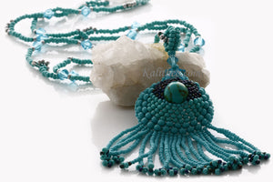 "KTC-222 ""Ocean Flirt"" Long Necklace OOAK - Kalitheo Creations"
