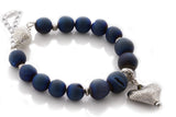 "KTC-239 ""Midnight Bliss"" Gemstone Agate Bracelet - Kalitheo Creations"