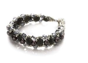 "KTC-268 ""Parisian Nights"" Beaded Bracelet - Kalitheo Creations"