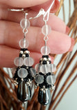 KTC-281 Hematite Dangle Handmade Earrings - Kalitheo Jewellery