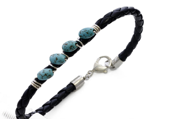 KTC-286 Braided Leather Unisex Bracelet Boho 35%Off - Kalitheo Jewellery