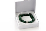 Gift Boxed - Agate Natural Gemstone Rainforest Tone Bracelet - KTC-290 - Kalitheo Creations