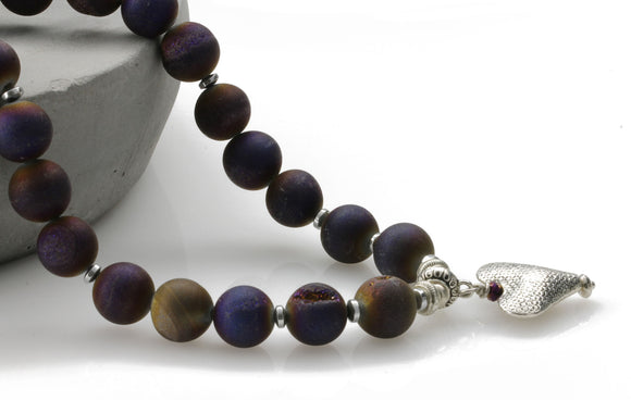 Side view - KTC-313 Royal Purple Necklace - Kalitheo