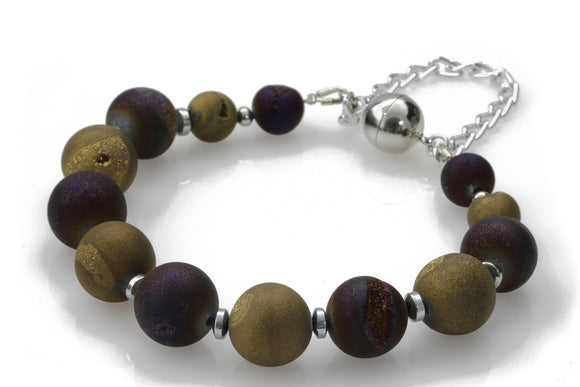 KTC-314 Purple Gold Bracelet - Kalitheo Creations