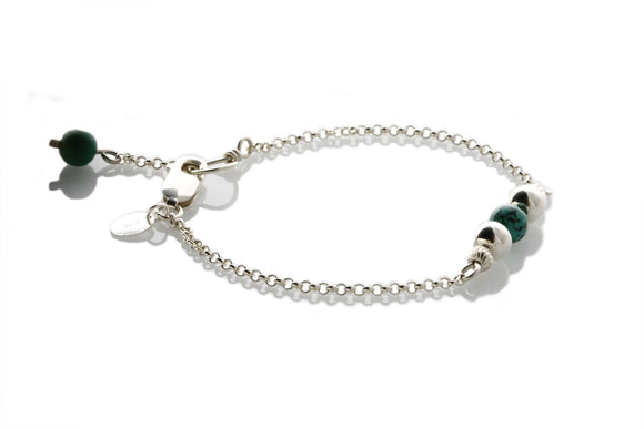 KTC-316t Sterling Silver Natural Turquoise Minimalist - Kalitheo Creations