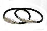 KTC-355 Leather and Freshwater Pearls - Kalitheo Jewellery
