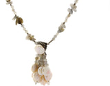 "KTC-327 ""Ocean Princess"" A Freshwater Coin Pearls with Labradorite Gemstone Necklace - Kalitheo Creations"