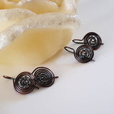 Oxidized Copper Wire Earrings | (KJ-401E) Handmade Earrings - Kalitheo Creations