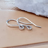 F-SS013/EH3 (BULK 6 pcs) Handmade Solid Sterling Silver Ear Hooks - Jewellery Making Supply - Kalitheo Creations