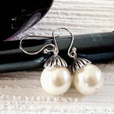Large Pearl White Earrings - Kalitheo