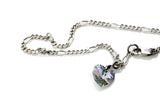 KTC-129 Anklet - Sterling Silver and Swarovski heart - Kalitheo Creations