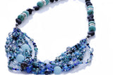 "KTC-284 ""Ariel Blue"" Boho Multi-strand Necklace - Kalitheo Jewellery"