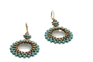 "KTC-298""Circle of Life"" Earrings Turquoise Blue - Kalitheo Jewellery"
