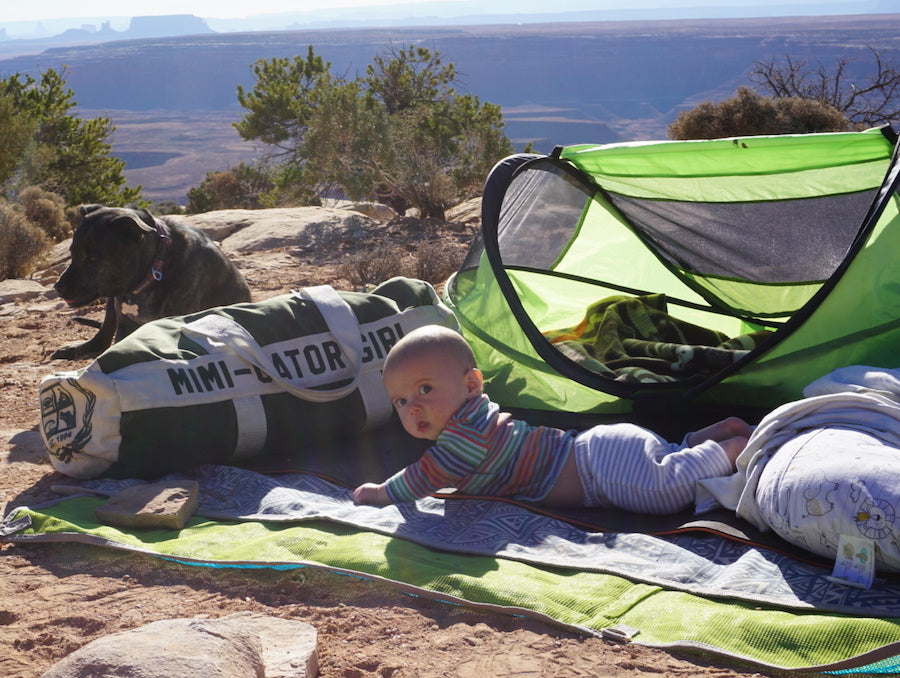 gear for camping with a baby