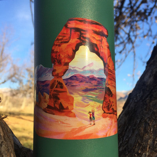 national park moab utah sticker
