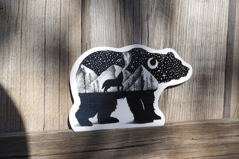 Bear & Wolf Sticker