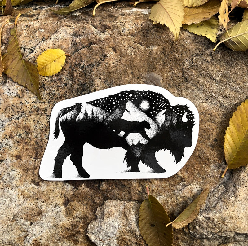 yellow stone bison stickers