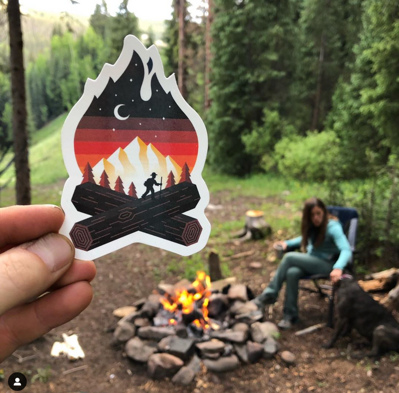campfire decal sticker