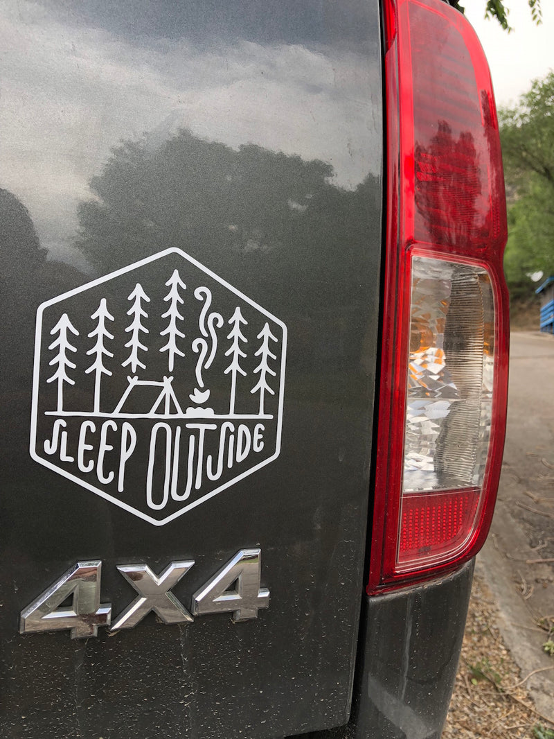 Sleep Outside Transfer Sticker