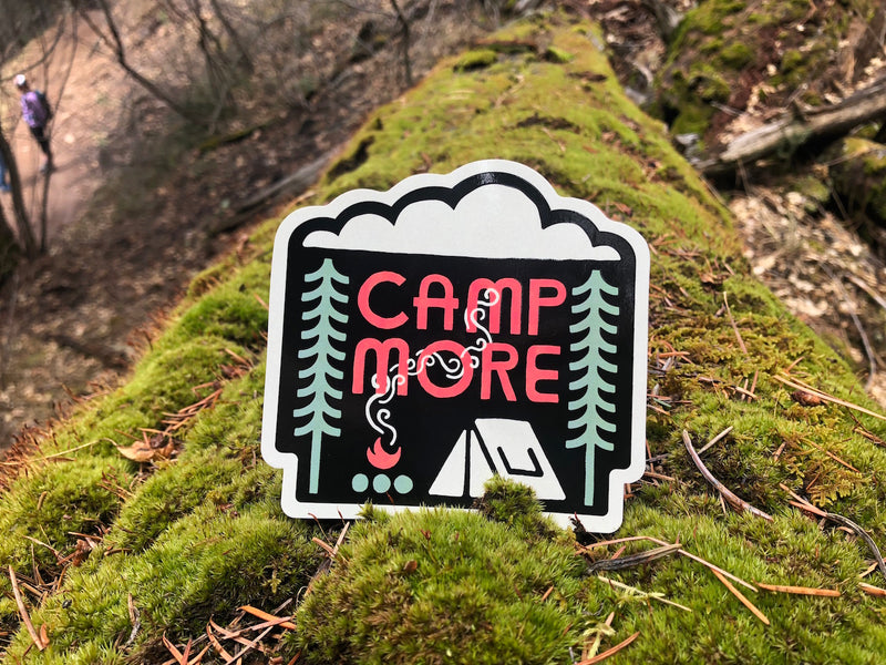 camping decal sticker