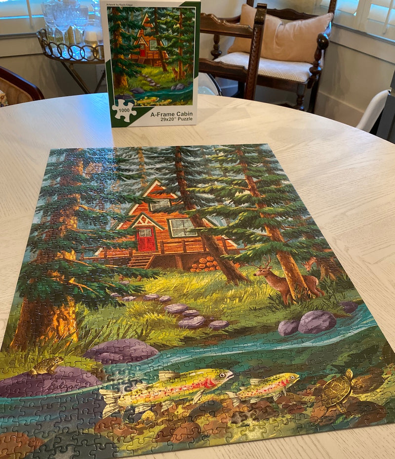 A-frame Cabin Jigsaw Puzzle | 1,000 Piece