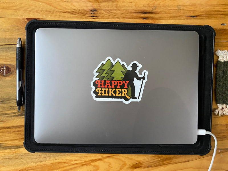 Happy Hiker Sticker