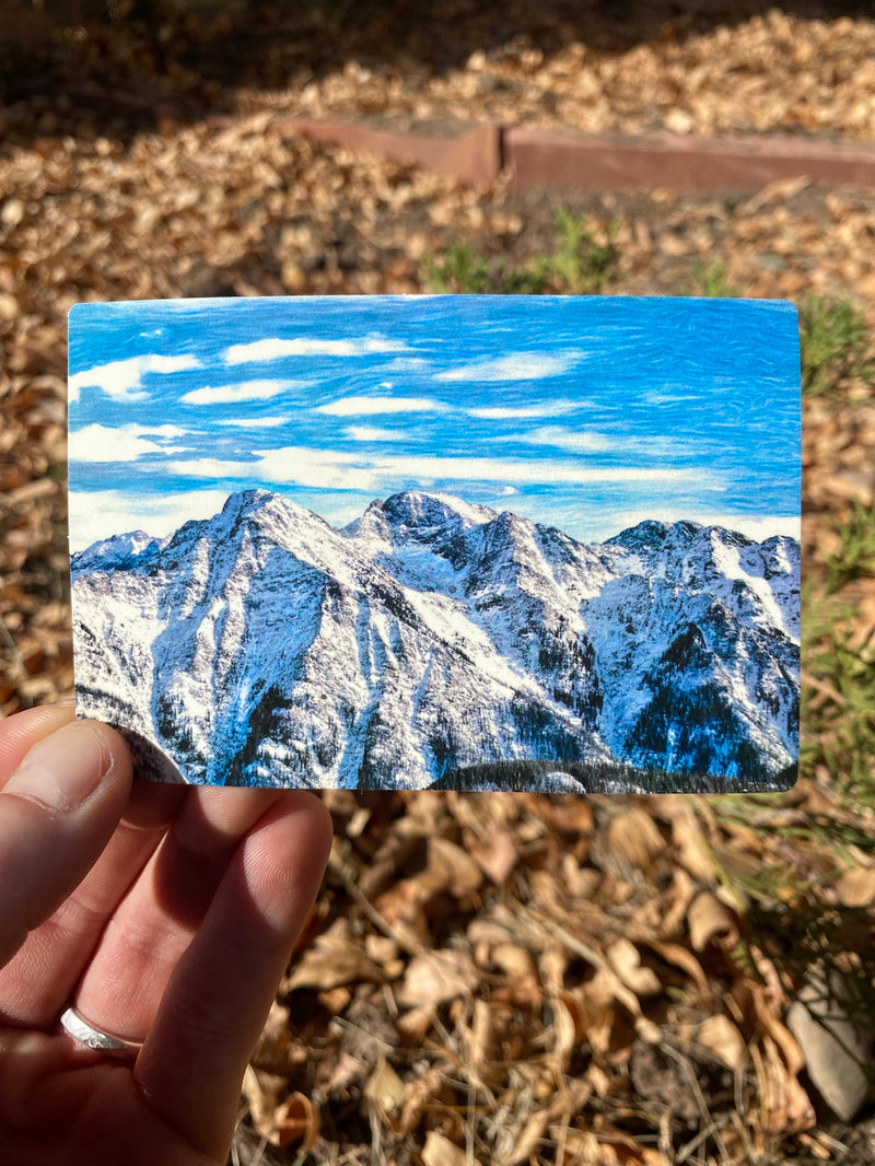 Rugged Mountains Sticker