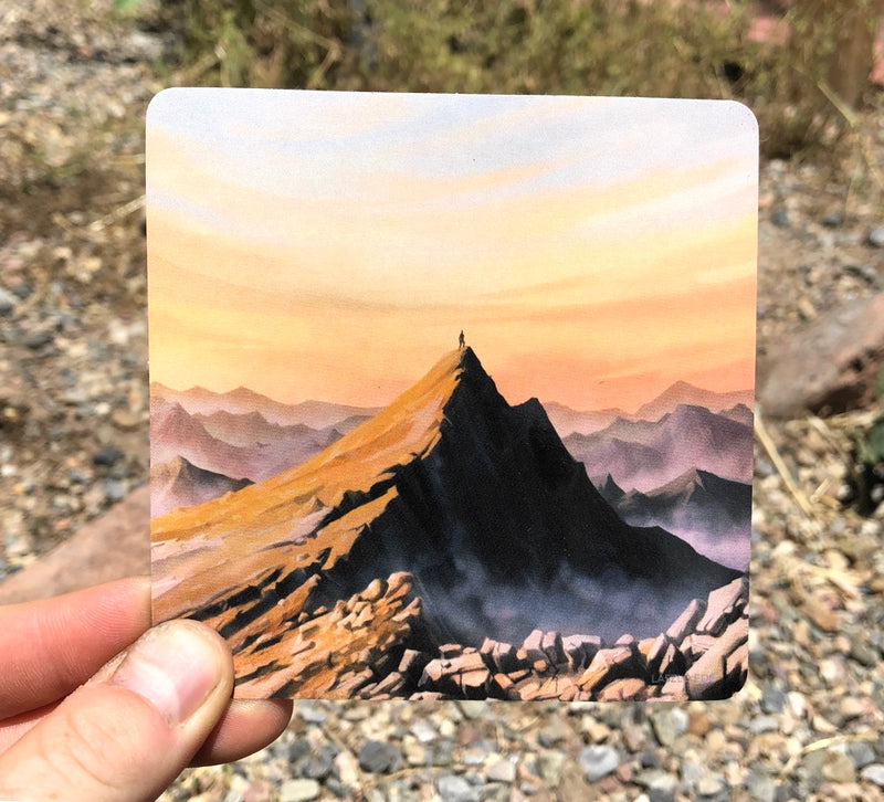 mountain top sticker