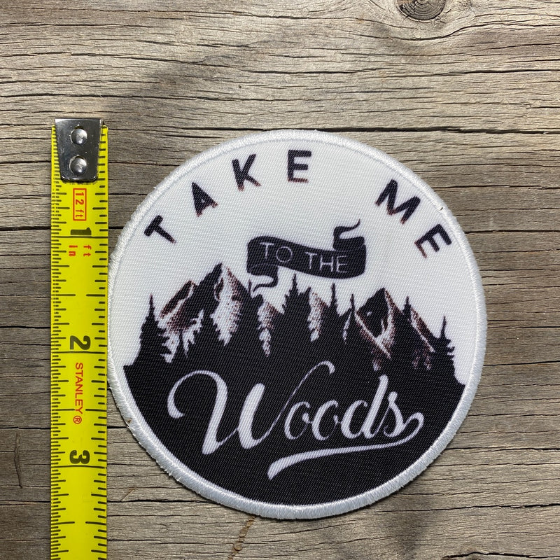 woods patch iron on