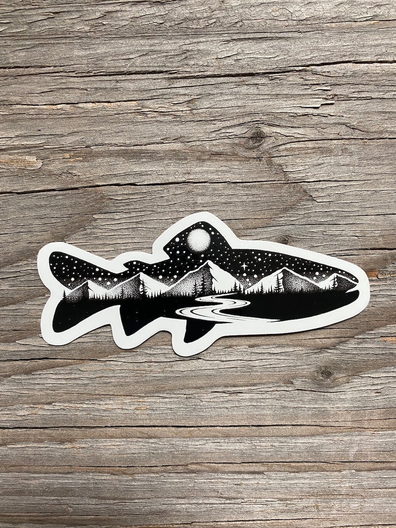 trout decal for cooler