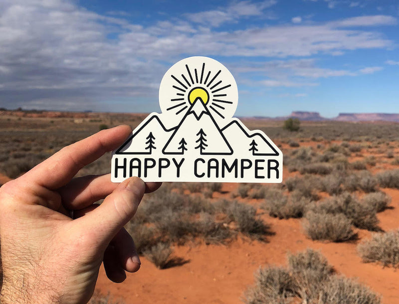 happy camper camping sticker