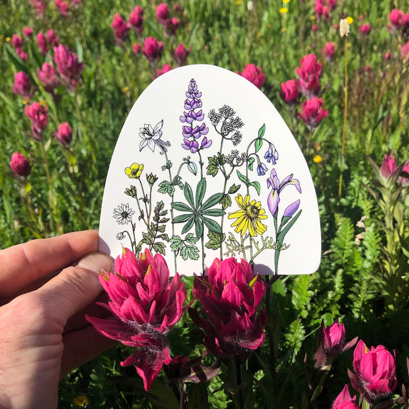 wildflower decal