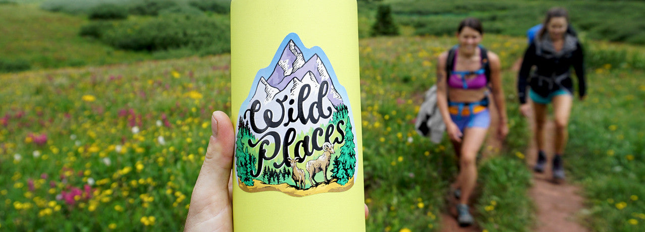 Camping backpacking sticker
