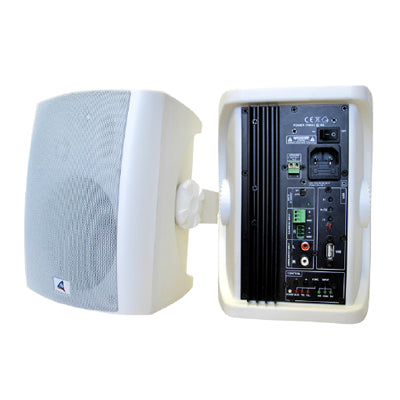 40W Powered Speakers - Wall Mount (Available in Black or White)