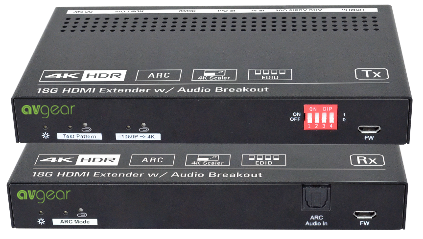 AV Gear HD350ASET - 18G HDMI Extender with Audio Breakout