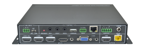 AV Gear SC-51-TS - 5 Input Mini Scaler Switcher with HDBaseT Output