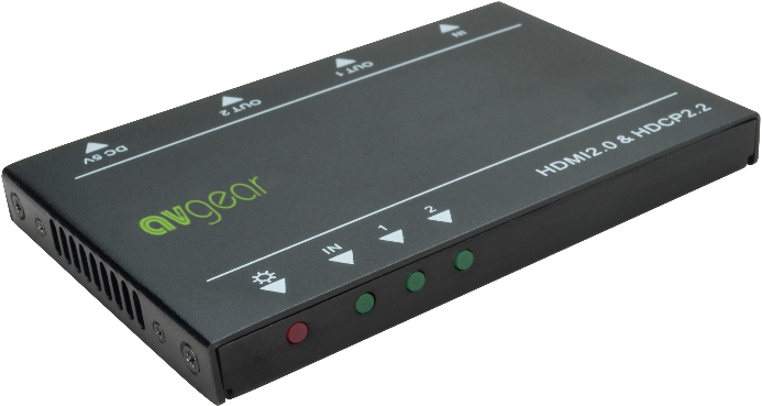 AV Gear UDA2-V2 - Ultra Slim 1 in 2 out HDMI Distribution Amplifier