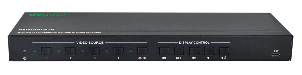 AV Gear UHC41A - 4×1 Presentation Switcher with USB-C