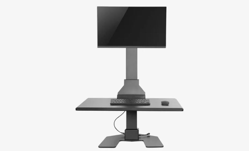Ergovida EDT10-T01 Single Monitor Electric Vertical Bar Desktop Sit-Stand Workstation