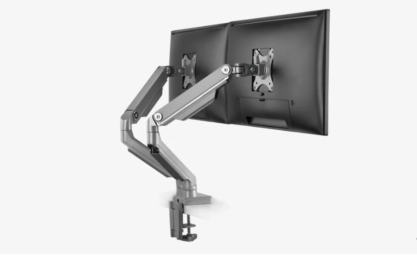 Ergovida EMA14-C24 Mechanical Spring Monitor Desk Mount (Dual Arm)