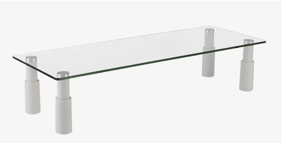 Ergovida ESS-101 Glass Monitor Desk Riser - Rectangular